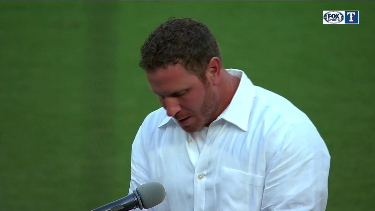 Here is just a small piece of Josh Hamiltons @Rangers Hall of Fame speech! #TogetherWe