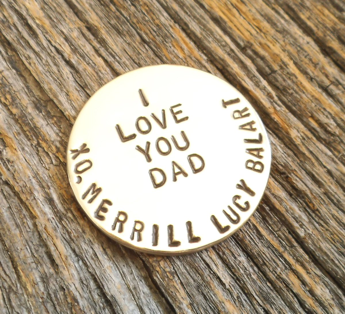 I Love You Dad - Personalized Golf Ball Marker http://tuppu.net/a444478a #Shopify #CandTCustomLures #Personalized_golf
