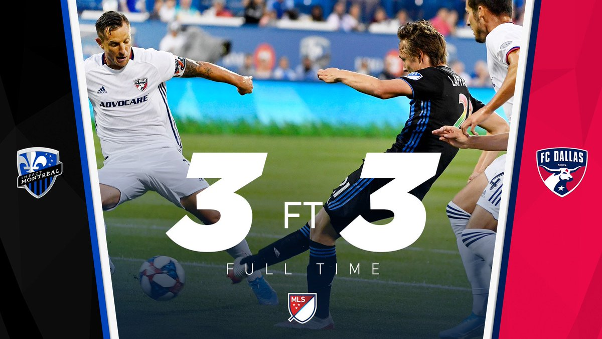 FT: COMEBACK COMPLETE.  @FCDallas turn a 3-0 deficit into a 3-3 draw at Stade Saputo, claiming a big road point. #MTLvDAL<br>http://pic.twitter.com/1dsDBMNL69