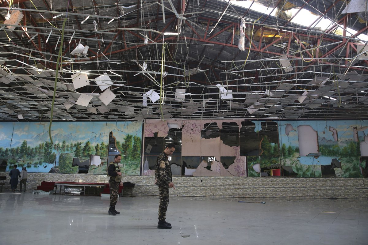 Death toll from Kabul wedding party suicide bomb rises to 63 itv.com/news/2019-08-1…