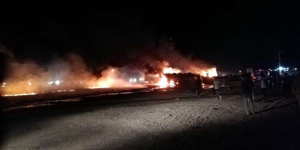 Fuel tanker catches fire on Erbil-Khabat road  https://t.co/6THz2JGzPO #Erbil #NRTnews #twitterkurds https://t.co/RBMCBXJNyH
