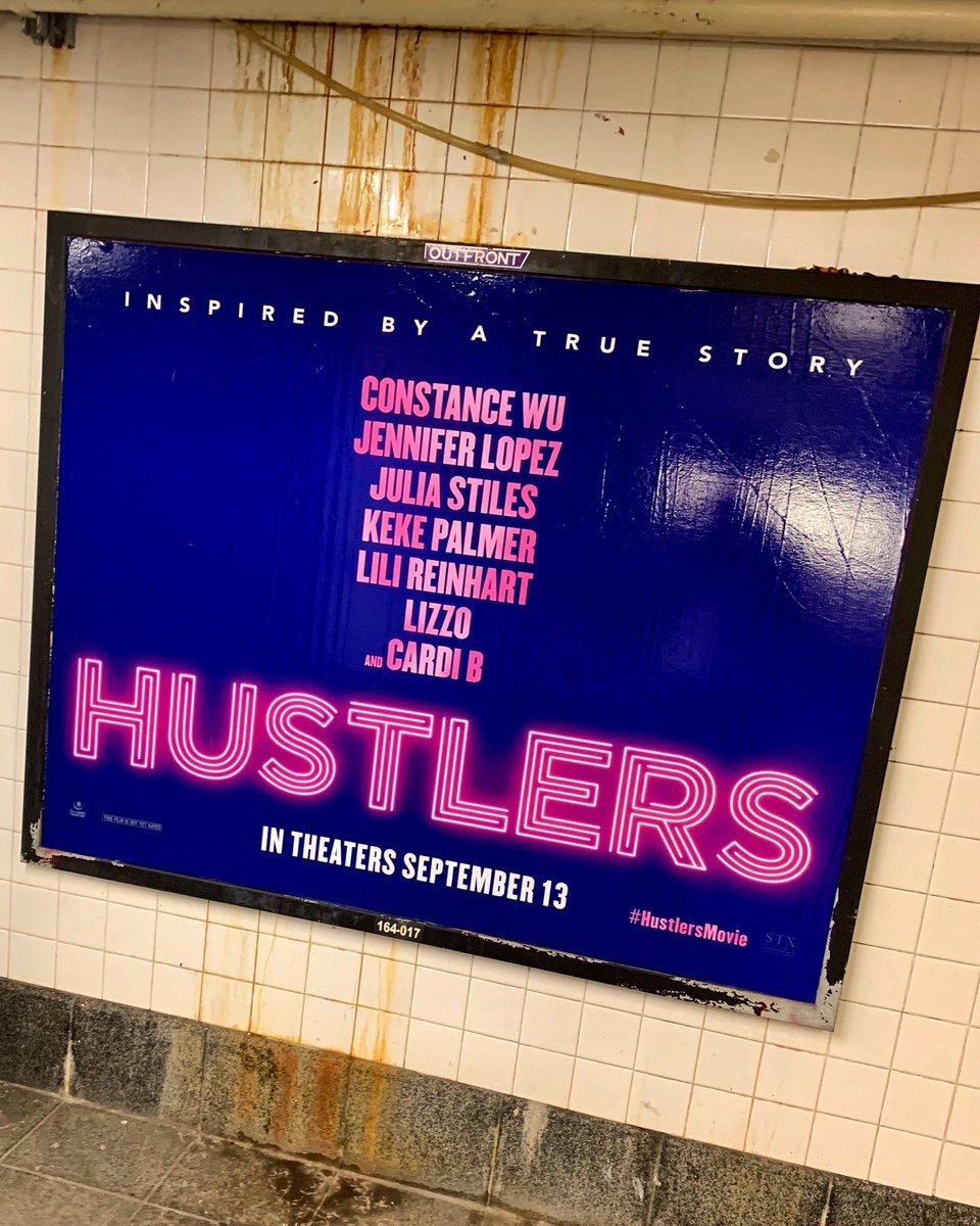 Look what I spotted on the subways of New York City! #HustlersMovie  #JLo @HustlersMovie @JLo @LoreneScafaria @egt239 @STXEnt @iamcardib @lizzo @KekePalmer @lilireinhart @ConstanceWu <br>http://pic.twitter.com/8b3oNWurTv