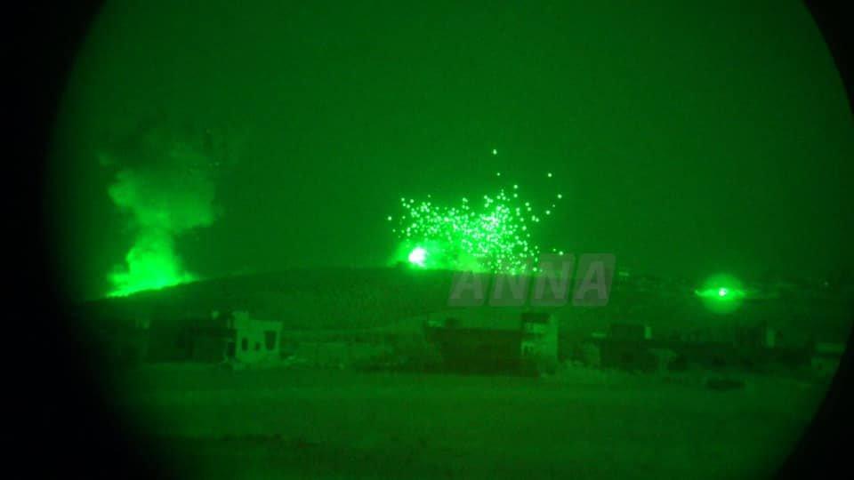 SIRIA El Ejército Árabe Sirio a las puertas de Jan Sheijun. Imagen: Anna News desde el frente de combate en Idlib.
