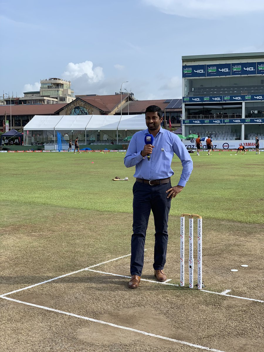 Pitch report today #SLvNZ #Galle Interesting pitch .. lot to talk about