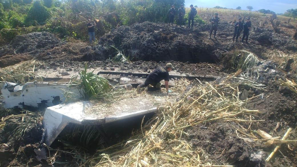 En Ixcán, #Quiché, se inspeccionó la aeronave que estaba destruida y no se localizó ilícito.