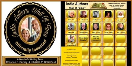 """What a wonderful Saturday for celebrating our 36th Induction (Roxanne E. Burkey & Charles V. Breakfield) on """"Indie Authors Wall of Fame... https://eprintedbooks.com/publisher/IAWOF/… @EnigmaSeries"""