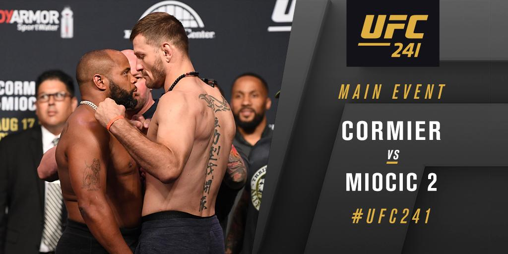 Main Event time!  #UFC241
