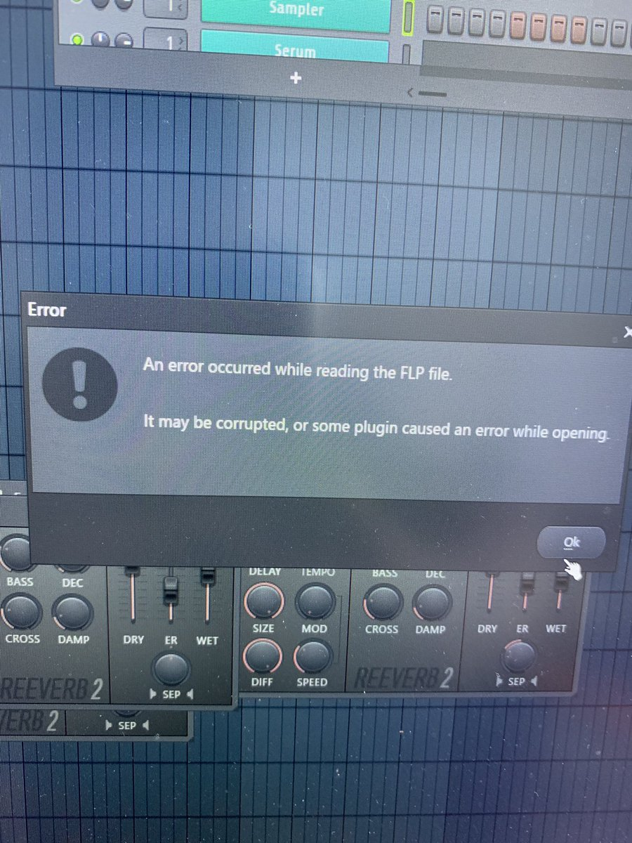 So it turns out I'm a big dumb dumb and have been running 32 bit FL studio on my 64 bit computer and the project has crashed in probably 20 different ways. I just ran it in 64 bit and there are no issues. Oopsies  <br>http://pic.twitter.com/IDKCMIagRB