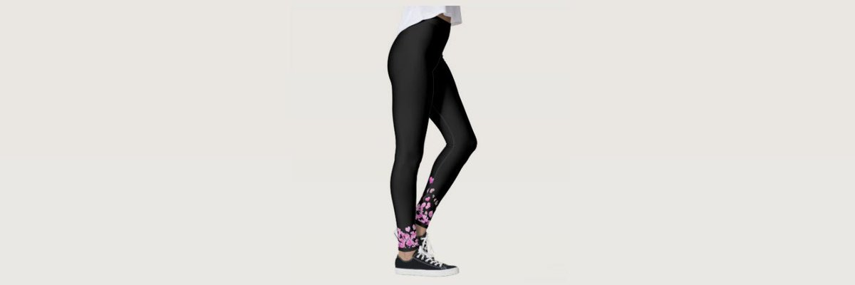 Black #leggings with pink heart design - #yoga #yogapants #sponsored   Click here to order online! http://ow.ly/EvIn50qJQUj