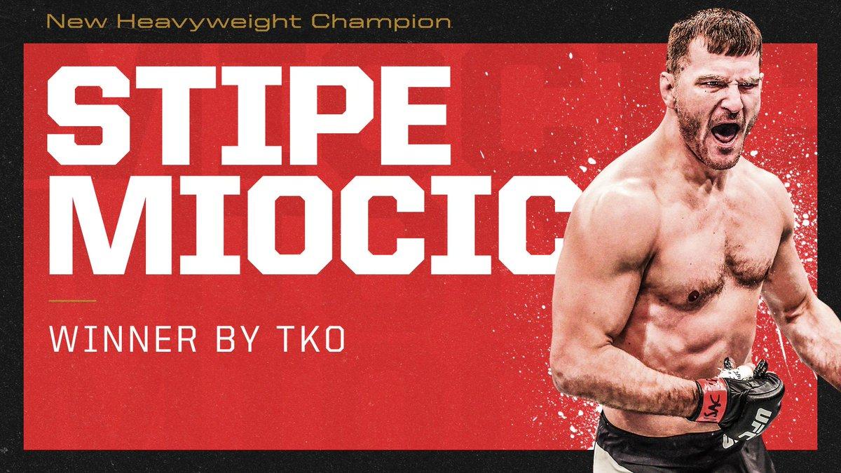 Stipe Miocic beats Daniel Cormier in their #UFC241 rematch. (via @espnmma)