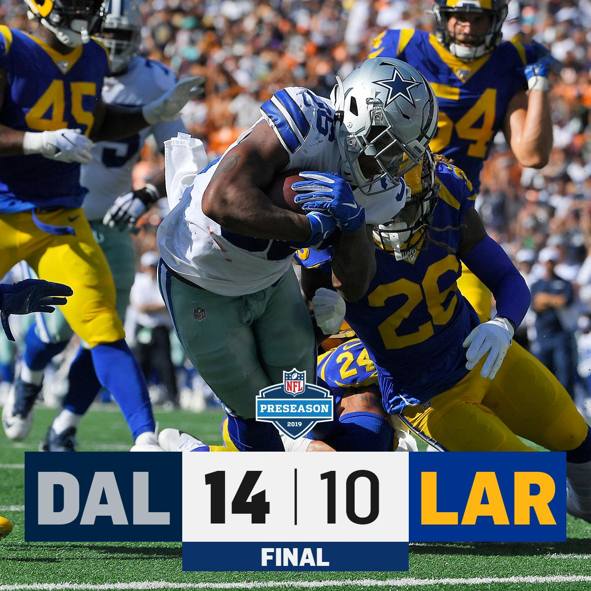 FINAL: @dallascowboys over the Rams in Hawaii! #DALvsLAR<br>http://pic.twitter.com/WPsTKmAhCG