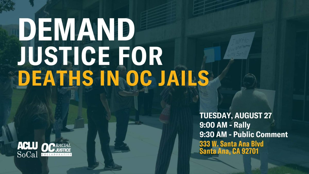 Join us on 8/27 to demand justice! twitter.com/VoiceofOC/stat…