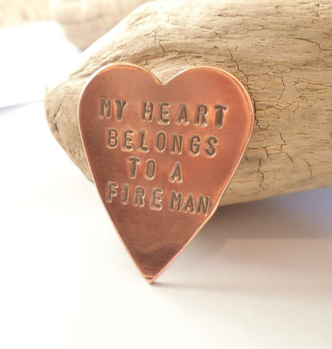 Copper Wallet Insert for Firefighter Daddy My Heart Belongs to a Fireman Husband Fathers Day for Dad Police Officer Gift Marine Deployment http://tuppu.net/1172adce #Shopify #CandTCustomLures #Memorial_gift