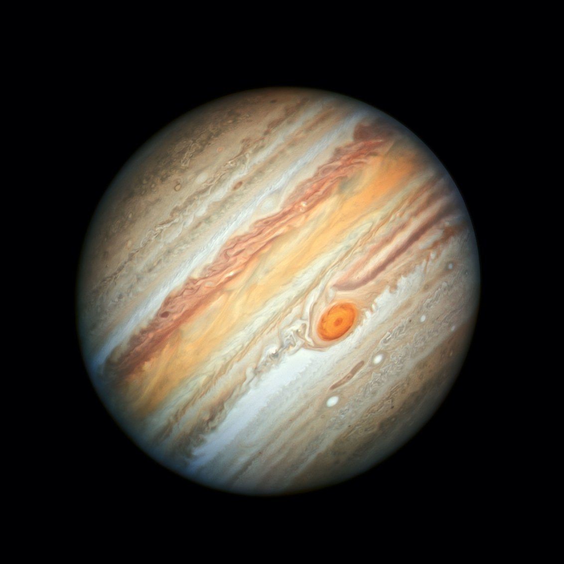 Hello Jupiter. On June 27, the Hubble Space Telescope pointed toward the gas giant and captured this spot-on shot of its shrinking Great Red Spot. https://wired.trib.al/YhcoI9R 📸 NASA, ESA/A. Simon/M.H. Wong