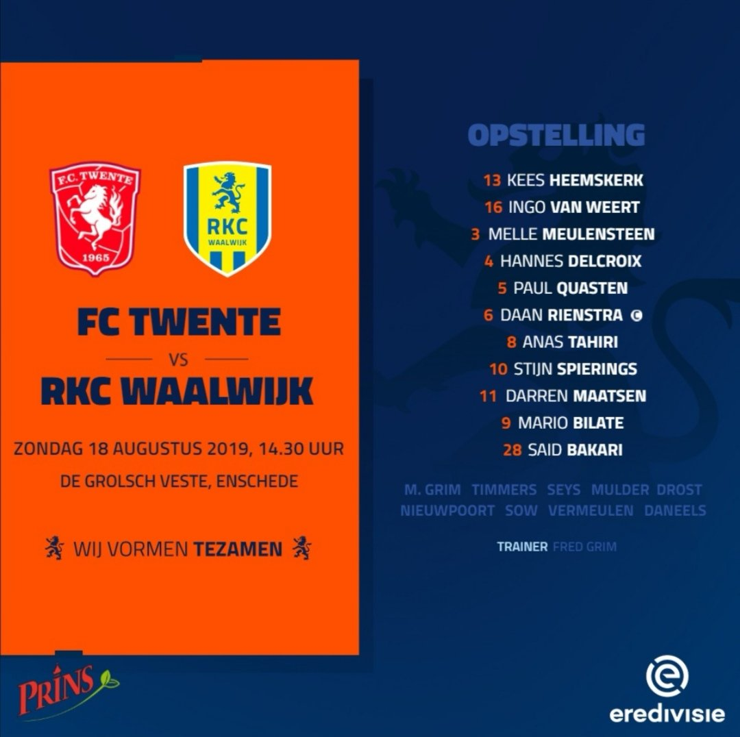 RKC once again in the lead on a visit to FC Twente - Teller