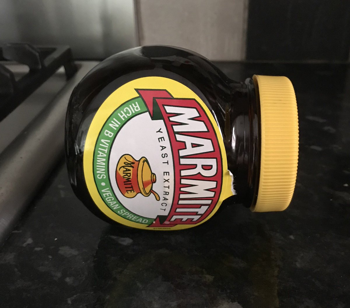 It took me years to realise that near-empty Marmite jars should be kept on their side so you can the last of it out more easily. That's why the jar is flat is the sides