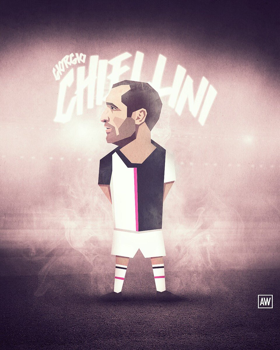 I should move on from creating these characters, but I'm not ready yet. @chiellini @juventusfc #juveart #juve