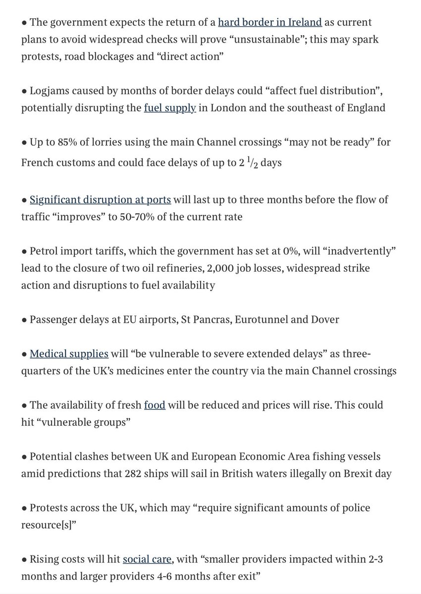 🤦🏾♀️ Of course most vulnerable will be affected most ⬇️ A senior Whitehall source said: This is not Project Fear — this is the most realistic assessment of what the public face with no deal. These are likely, basic, reasonable scenarios — not the worst case. #Yellowhammer