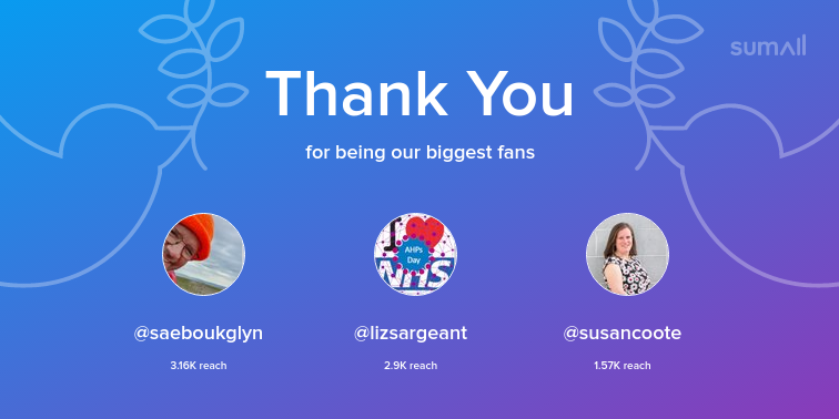 test Twitter Media - Our biggest fans this week: saeboukglyn, lizsargeant, susancoote. Thank you! via https://t.co/Smxnf7IYIv https://t.co/FRmNinH0ha