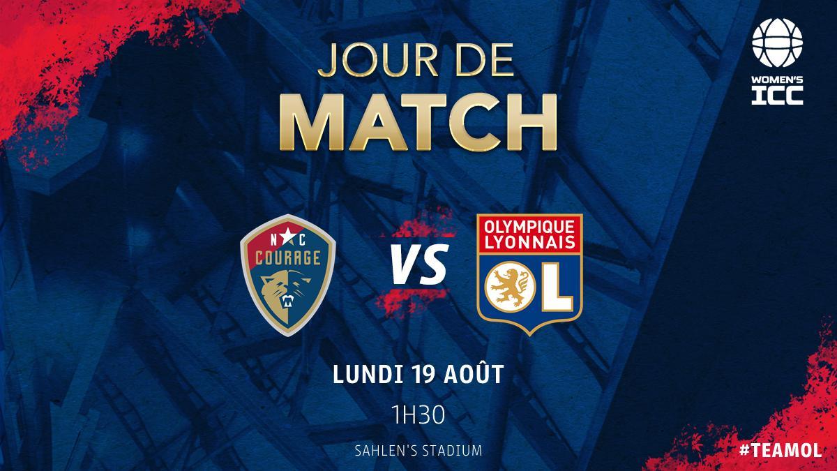 🔴 Jour de match 🔵 ⚽ #NCOL 📆 Finale @iccwomen ⏰ 1h30 🏟 Sahlens Stadium 📺 En direct sur @OLTV_officiel / OLPLAY 📱 #TeamOL / #WICC19