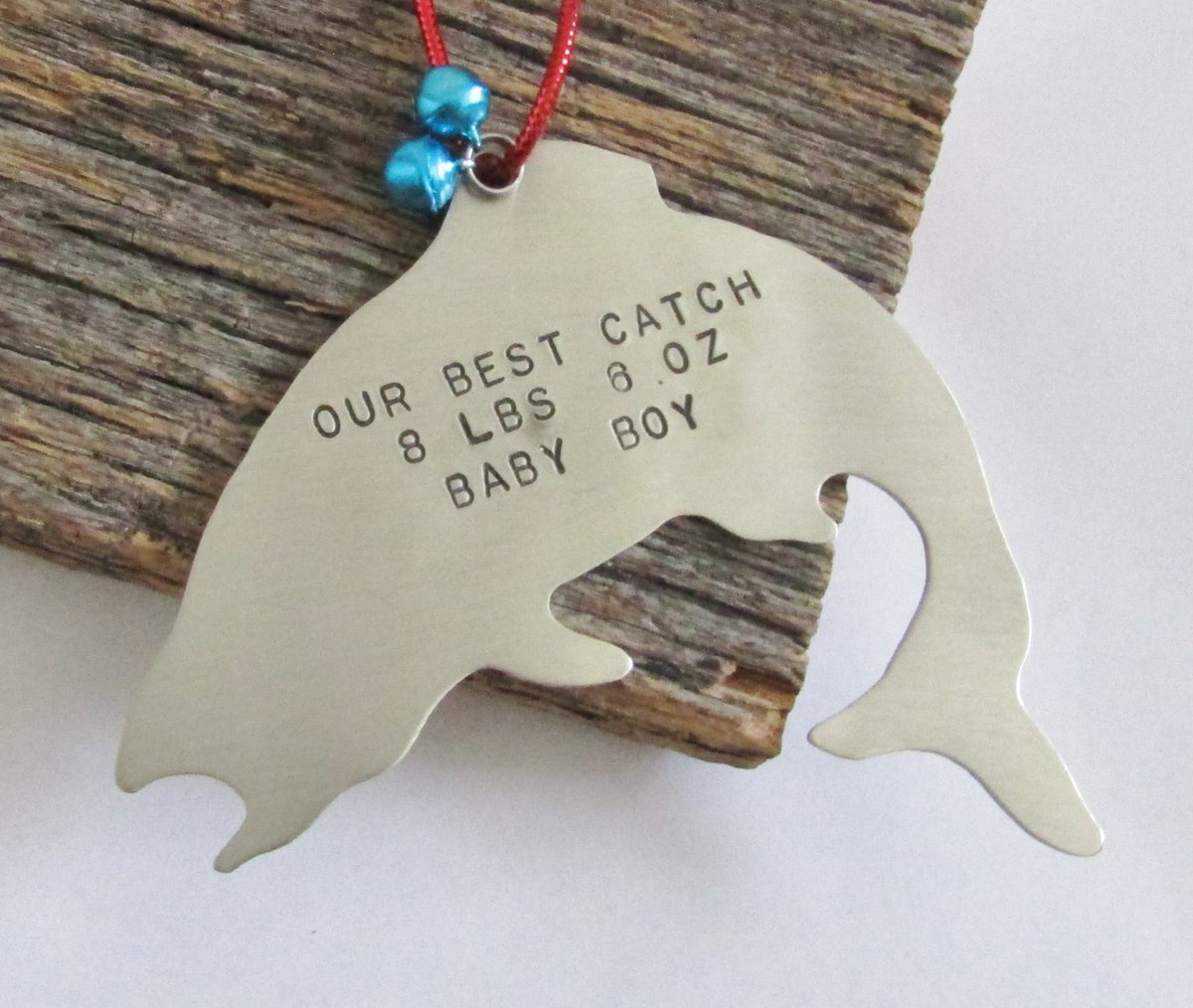 Personalized Christmas Ornament Fishing Ornament New Baby Ornament Baby's 1st Christmas Ornament Baby Weight Baby Stats Baby Name Ornaments http://tuppu.net/48fe49d2 #Shopify #CandTCustomLures #Home_decor