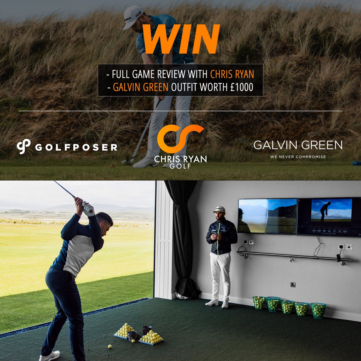 Want to win £1000 worth of @galvingreen clothing plus a coaching experience with myself? Head over to the @Golfposer page on Instagram, find this image/post in their page, follow the instructions and be in with a chance, good luck!