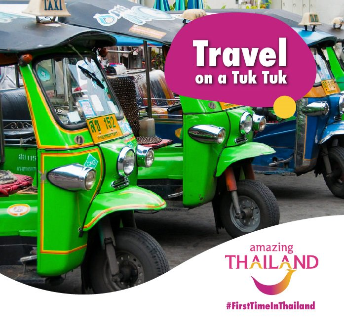 #FirstTimeInThailand Take tuk-tuks during the day and taxis at night. Taxis are more comfortable, but tuk-tuks give you a better view. Give us your top tip and stand a chance to WIN a Simply Asia voucher for TWO weekly. T&C's apply #amazingthailandsouthafricapic.twitter.com/X5NLc68LGc