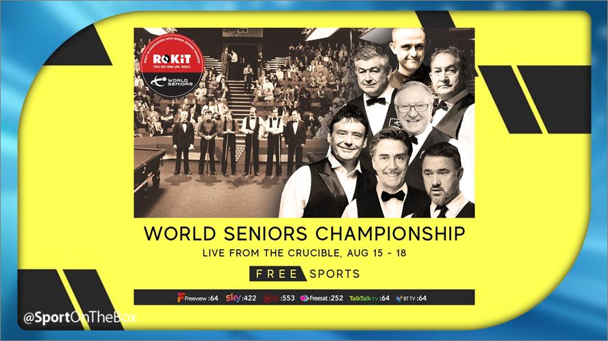 #Snooker ⚪ LIVE @WorldSeniors Championship Final Day, @crucibletheatre 📺 10am, 2pm & 7pm @FreeSports_TV po.st/SOTBSnooker