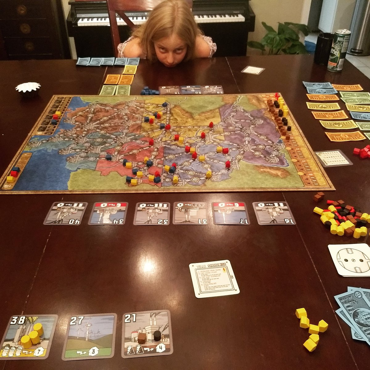 Introduced the kids to Power Grid tonight. Havent played this in about a decade.
