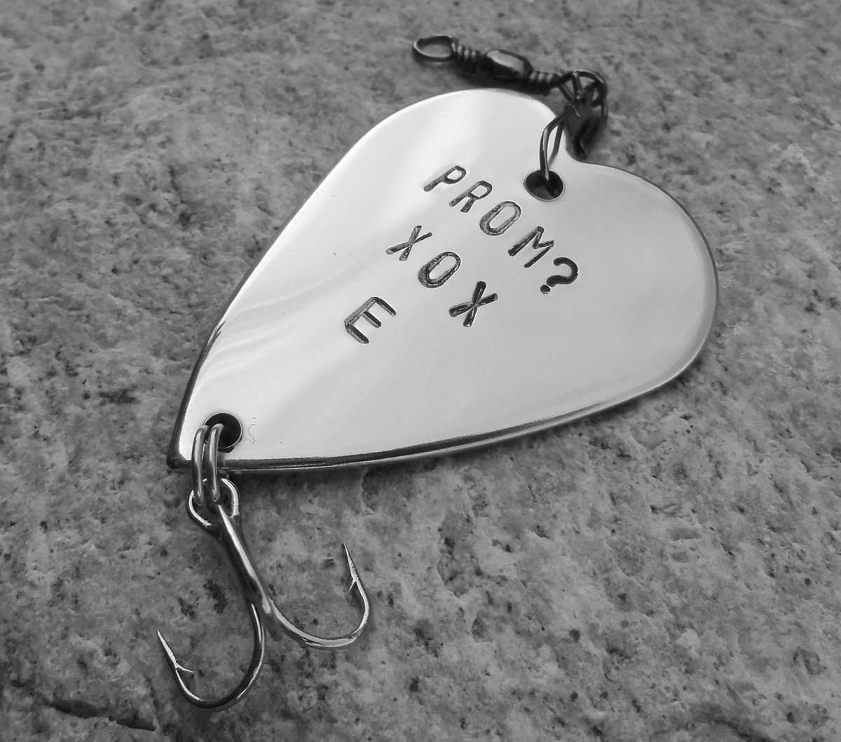 Prom Accessory Will you go to Prom Boyfriend Girlfriend Gift Personalized Fishing Lure for Teens Handstamped Creative Gift for Boy from Girl http://tuppu.net/5b7e9780 #CandTCustomLures #Shopify #For_teens