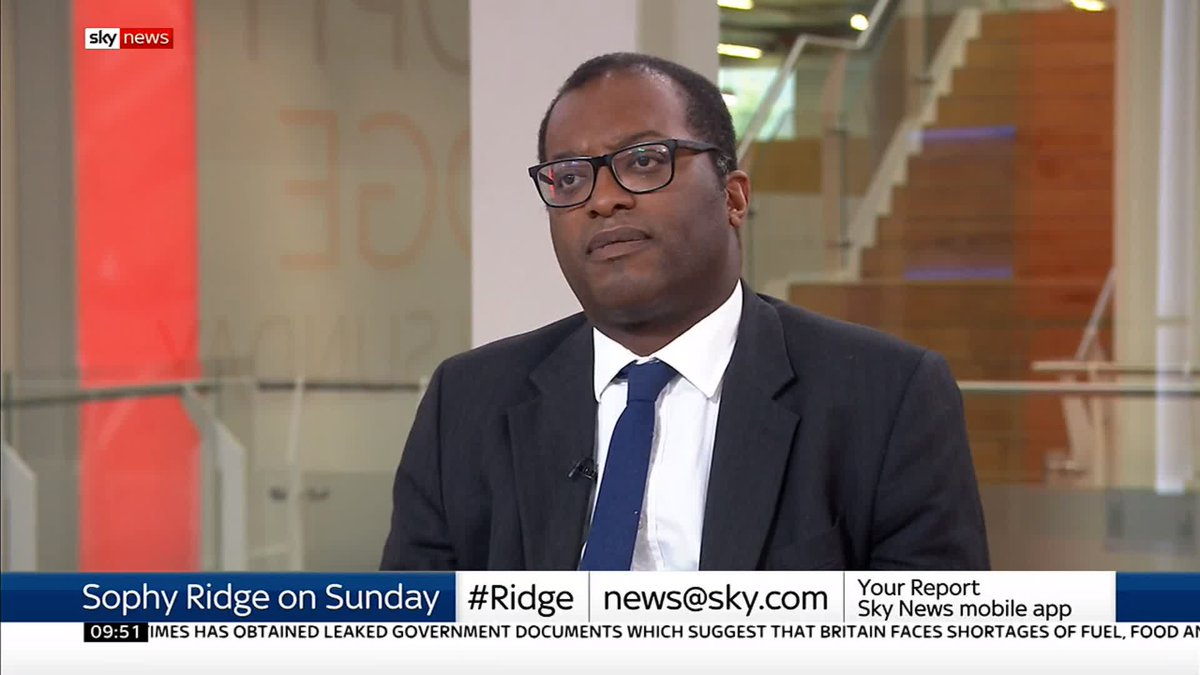 Im sure the prime minister will observe the letter of the law. Energy minister @KwasiKwarteng says he doesnt think the government will necessarily lose a vote of no-confidence - and insists if they did, the PM would honour that vote. #Ridge: po.st/WqOIl4