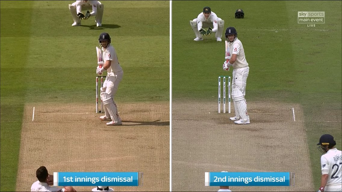 CricViz data features in this analysis of Joe Root's technique. England's captain has struggled with straight balls in recent times & it appears to have precipitated a change in his technique—moving more leg side—after being trapped lbw in the first innings. #Ashes