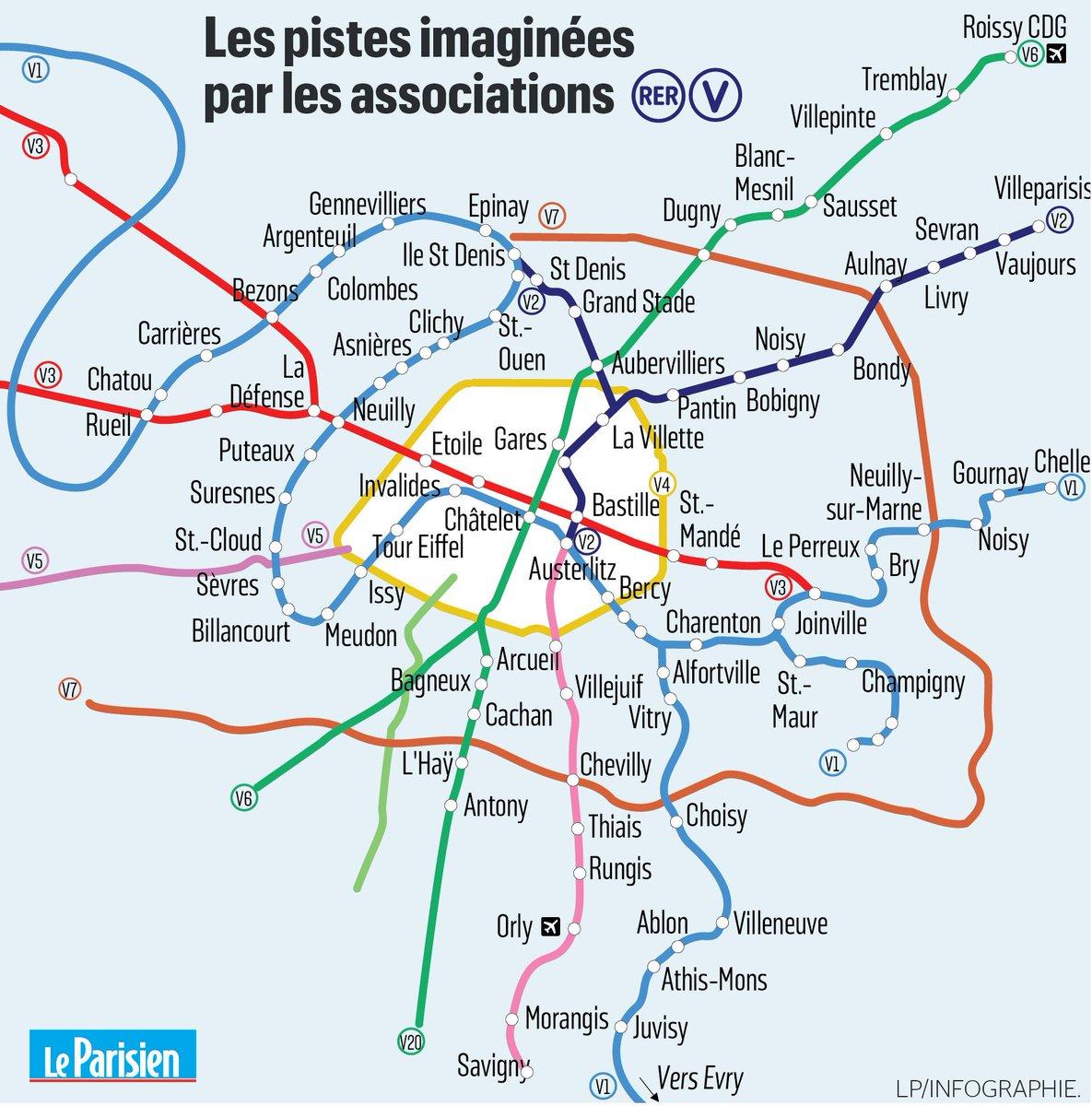 Este sería el incipiente diseño del 'mapa' ciclable ➡