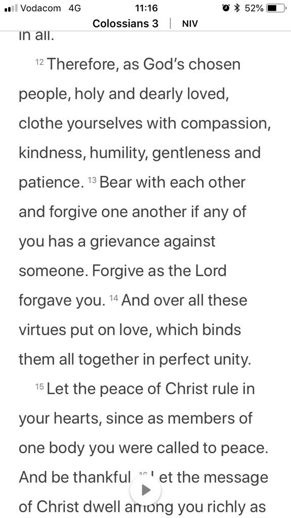 COMPASSION, KINDNESS, HUMILITY, GENTLENESS & PATIENCE. I need to improve on all these... I think we all do! Have a great week ahead and try keep these in mind. God Bless