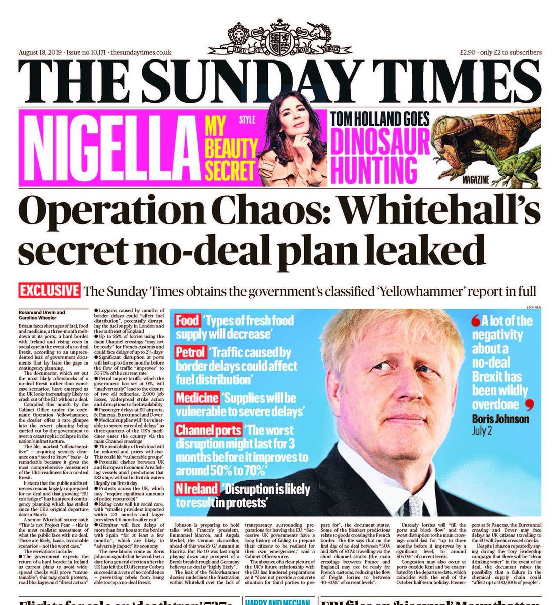 People didn't vote for chaos, food and medicine shortages and political unrest. Opposition parties must work with @jeremycorbyn and Labour to stop this Government's reckless charge towards a catastrophic no-deal Brexit.
