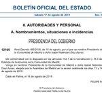 Image for the Tweet beginning: ¡Ya es #oficial! @IdiazAyuso nombrada