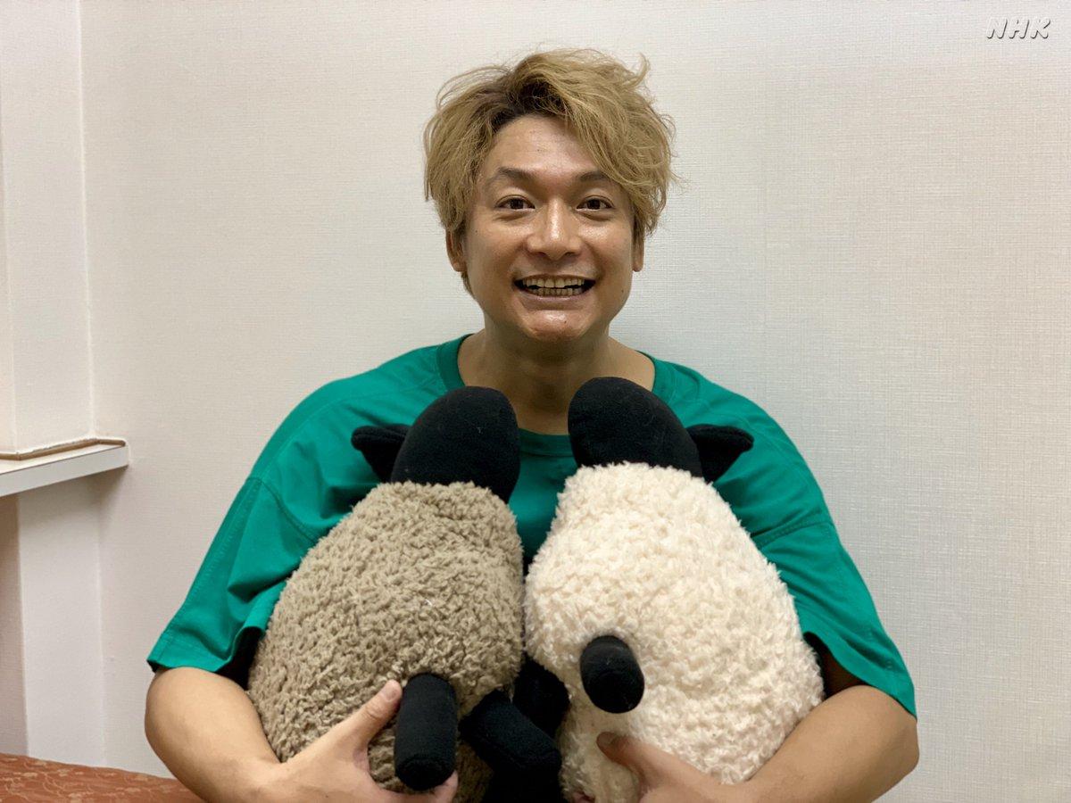 【ネムくんのプチ出張おやすみ日本第4弾】そして欽ちゃんのお友達の香取慎吾さんにも撮っていただきました。香取さんがネムくんを持つとネムくんの可愛さも5倍増しになりますね。欽ちゃんと香取くん再会の動画もございます。