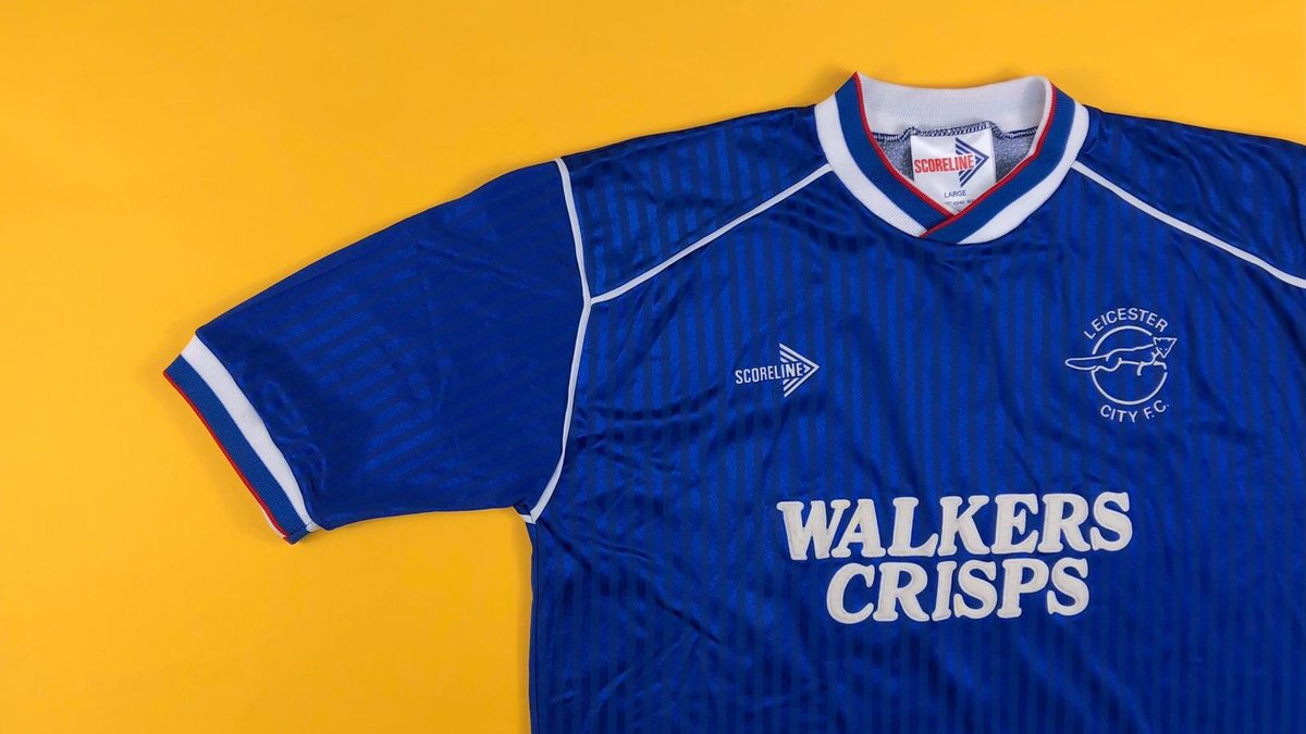 Leicester City 1989/90 home shirt by Scoreline cultkits.com/leicester-city…