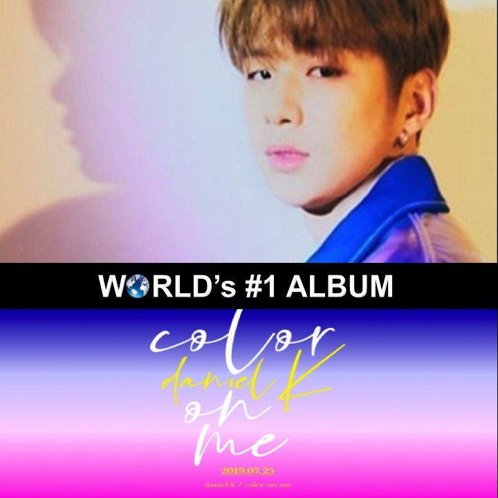 K-pop Superstar and former #WannaOne Member, #KangDaniel, tops the World Album chart with his debut EP #ColorOnMe and massive 1st week sales of 466,701! @danielk_konnect   https://www. facebook.com/worldmusicawar ds/posts/2384649041616195   … <br>http://pic.twitter.com/mEEAdh6q1J