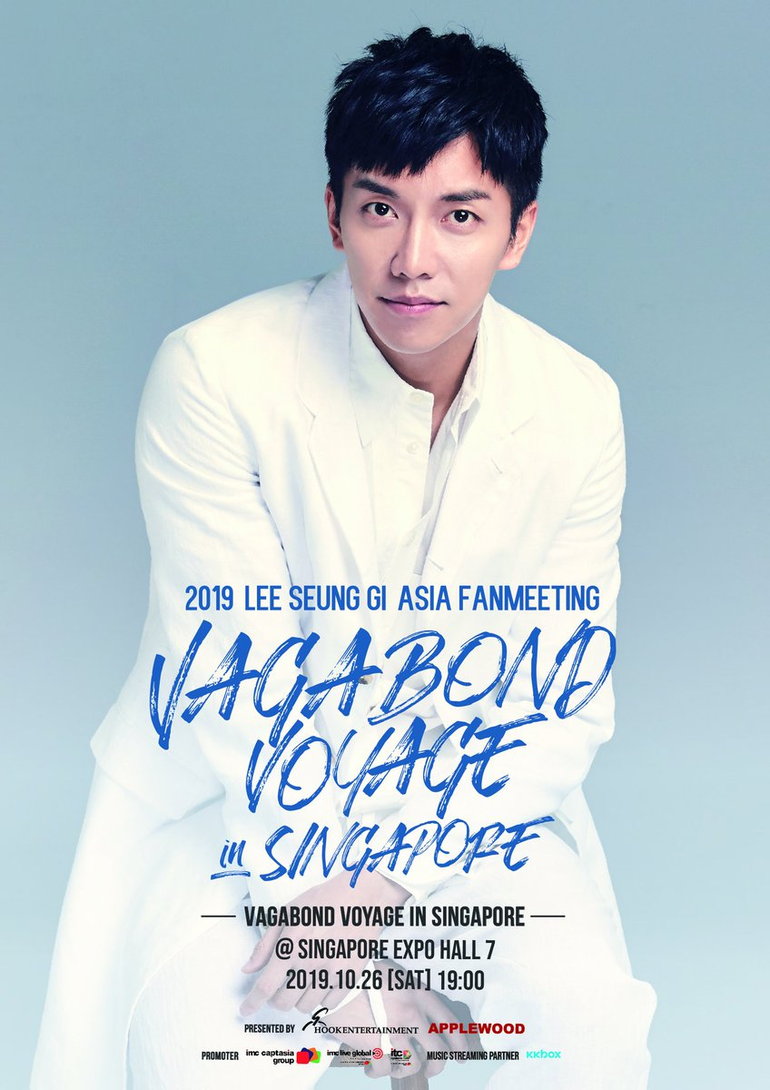 Airens! Dont forget to get your tickets to see Lee Seung Gi in Singapore ❤️ Tickets go on sale on ▶️ 19 August, 10AM - 10PM : IMC GLOBAL LIVE MEMBERS ▶️ 20 Aug, 10AM Onwards : Public #LeeSeungGiVagabondVoyageinSingapore #LeeSeungGi