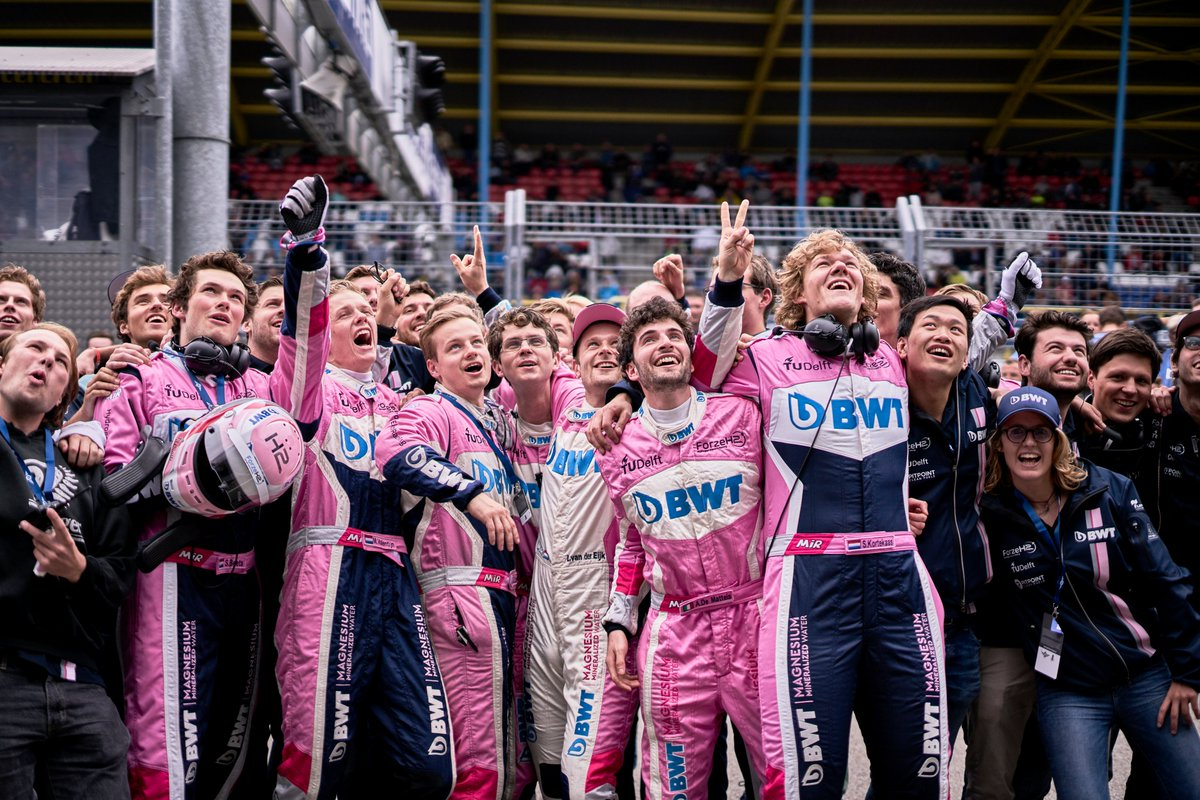 Congrats! What an electrifying race today! Without the burden of heavy batteries, filled up with only 4,9kg of Hydrogen. You. Where. Crazy. Fast.   #hydrogennow @ProvDrenthe @ttcircuitassen