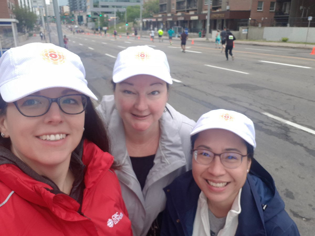 The @CBCEdmonton leadership team doing what we do best, delegating the important work to our great team!   So many folks from our newsroom are out running at the @Edm_Marathon this cool #yeg morning and we are cheering them on! Go @CBC!!  @jesspaddington @goodfelv @MyCBCYEG<br>http://pic.twitter.com/f4oWT9A1pJ