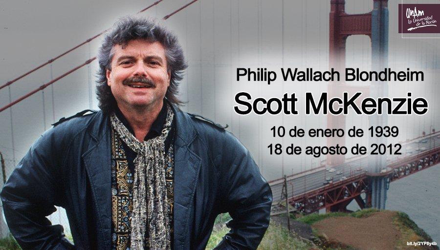 """#UnDíaComoHoy de 2012 murió el cantante y compositor estadounidense Scott McKenzie, recordado por interpretar """"San Francisco (Be Sure to Wear Flowers in Your Hair)"""" 🎶, el himno de toda una generación."""