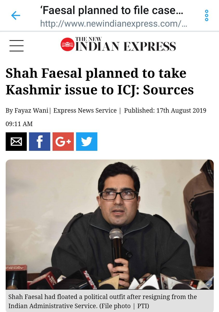IAS turned separatist Shah Faesal was planning to take #Kashmir issue to ICJ and file complaint against India. Accidental IAS topper is too dumb to know that International Court of Justice doesnt accept applications from individuals 😂🤣😂 #Article370 #Article35A
