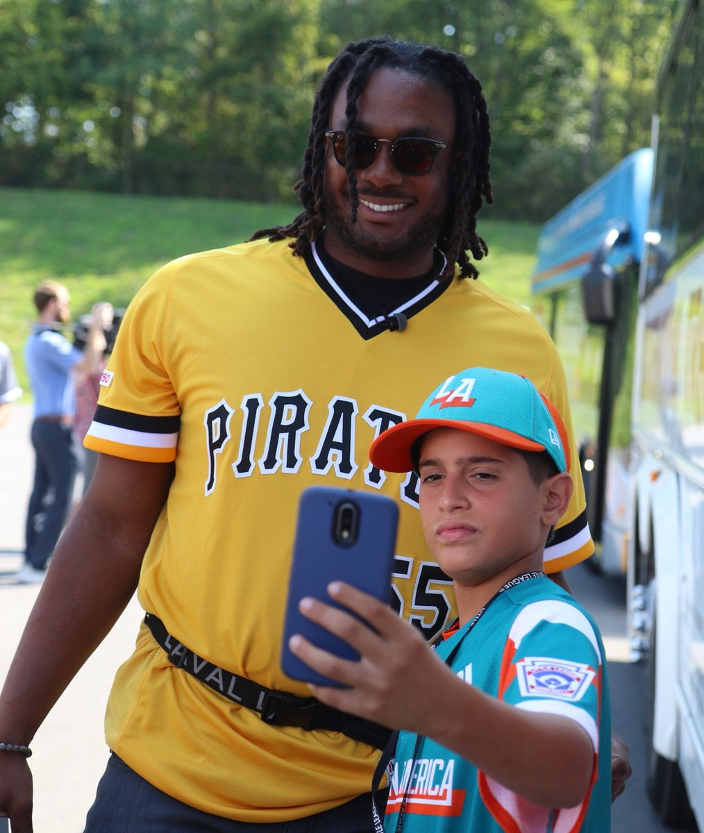 The @Pirates are making memories at the @GEICO #LittleLeagueClassic.