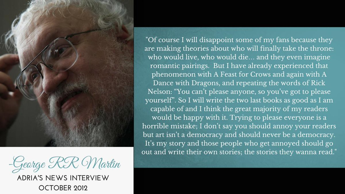 Yea! Good words to live by....Happy Sunday lords and ladies! <3 #grrmspeaking #asoiaf #gameofthrones <br>http://pic.twitter.com/EONC5soK8r