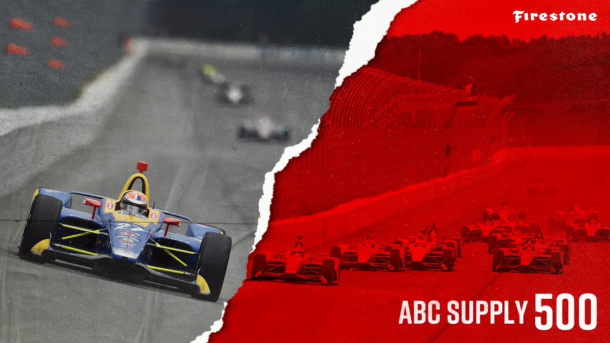 "It's Race Day! 💪 Who's going to tame the ""Tricky Triangle"" today?!? Watch @NBCSN at 2 PM ET to find out 😎 #INDYCAR // #ABCSupply500"