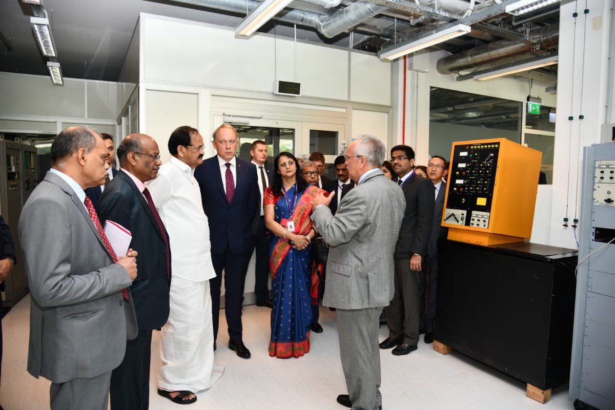Underscoring the importance of innovation in technological advancement Vice President @MVenkaiahNaidu visited Kaunas Technological University, a hub for cross-sectoral innovation in Lithuania.