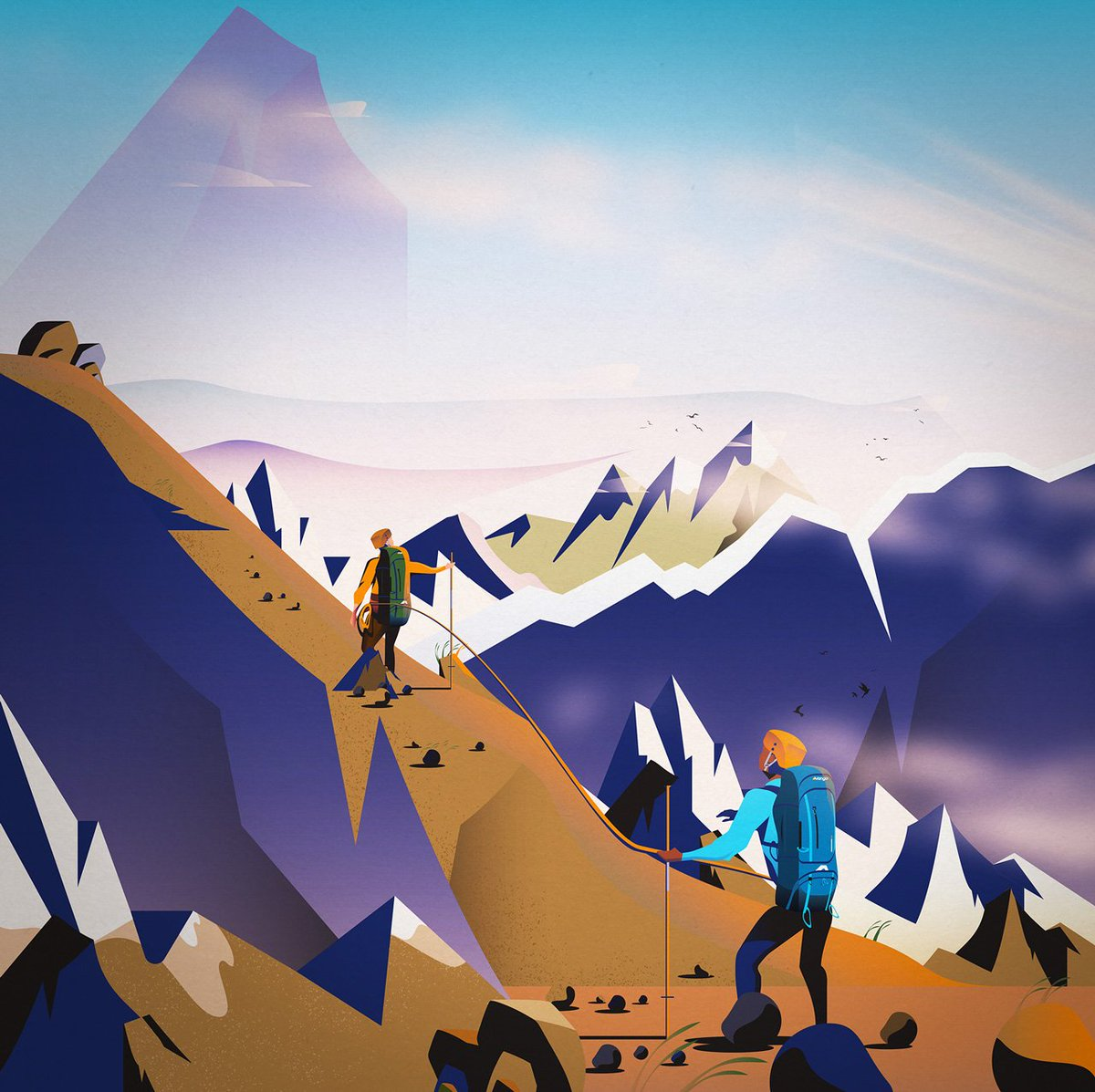 Very happy to have received a @TheDrumAwards Bronze this year for the For Wherever You Go campaign for @vango - huge thank you to @MadeBrave and @PeterPelosi for art direction ... see the full campaign here bit.ly/2TEFB4U #Illustration