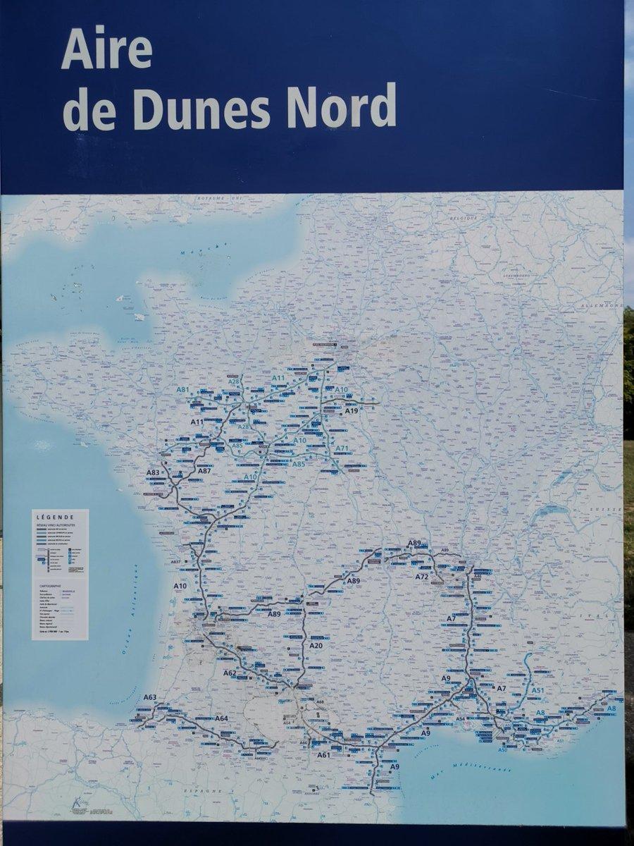 French Tour heading La Rochelle (@ Aire de Dunes in Dunes) swarmapp.com/c/if1r086p3xc
